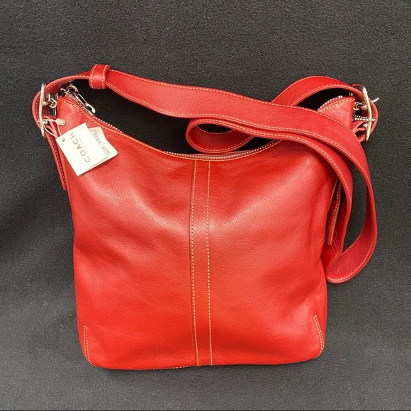 Coach Handbags - COACH RED LEATHER SATCHEL  NWT